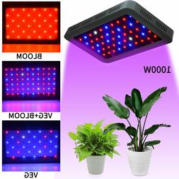 1000W Led Grow Light Full Spectrum Double Switch for Indoor