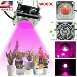 200W LED Grow Light COB Growth Lamp With Heat Sink Cooling F