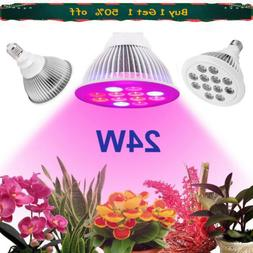 24W E27 LED Grow Lights Panel Lamp for Hydroponic Plant Grow