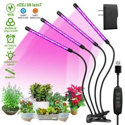 4 Heads LED Grow Light Plant Growing Lamp Lights for Indoor