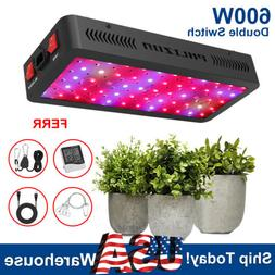600W Double Switch LED Grow Light Full Spectrum For Indoor P