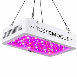 BLOOMSPECT 600W LED Grow Light: Full Spectrum for Indoor Hyd