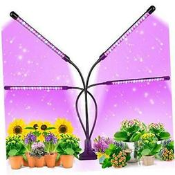 EZORKAS Grow Light, 80W Tri Head Timing 80 LED 9 Dimmable Le