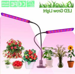 Grow Light 96 LED Dual Head Grow Lamp Red Blue Spectrum for