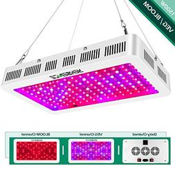 Yehsence 1500w LED Grow Light with Bloom and Veg Switch,  Tr