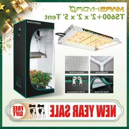 Mars Hydro TS 600W Led Grow Light+2' x2' x5' Indoor Tent Kit