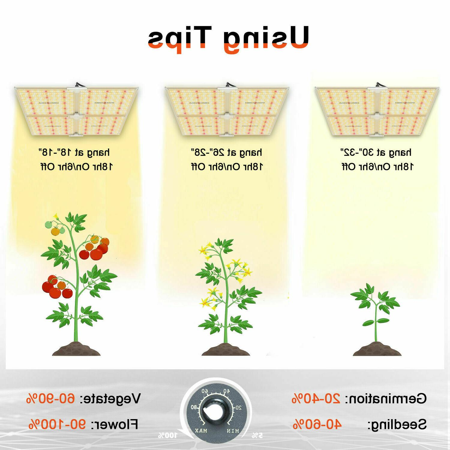 Spider Farmer Dimmable 2000W lights Tent Grow