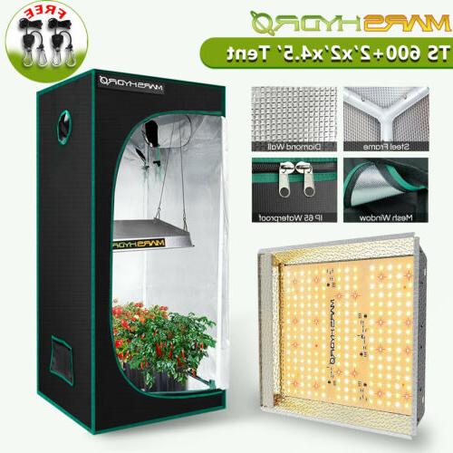 Mars Hydro TS 600W LED Grow Light Full Spectrum+2' x 2' Indo