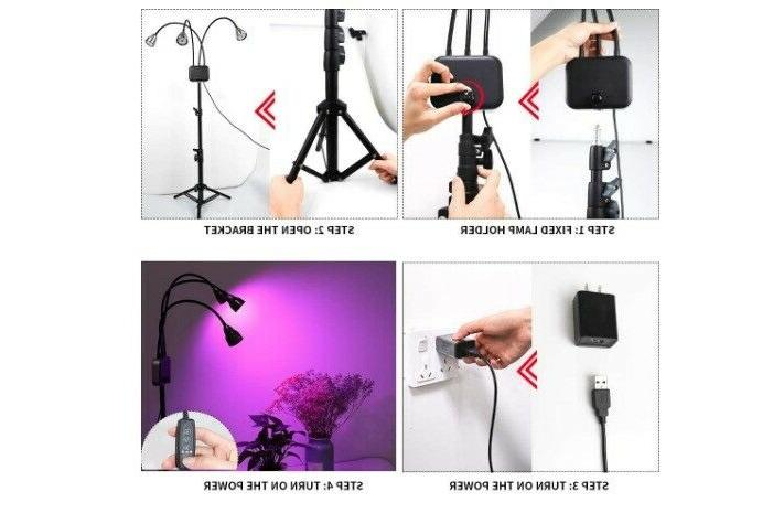 grow lights with stand full spectrum tri
