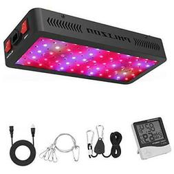 Phlizon Newest 600W LED Plant Grow Light,with Thermometer Hu