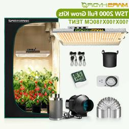 Mars Hydro TS 1000W Led Grow Light+2'x2' Indoor Tent Full Ki